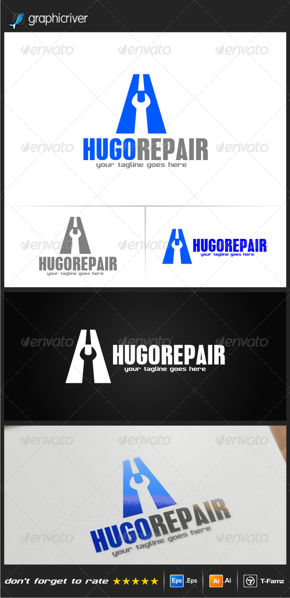 GraphicRiver Hugo Repair Logo Templates 8217500
