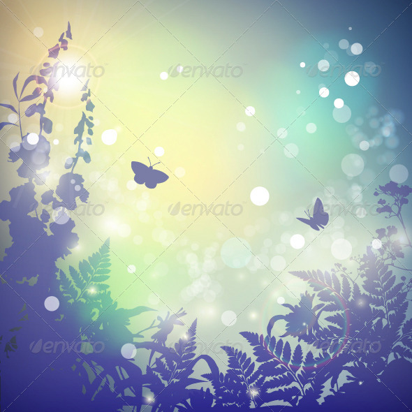 GraphicRiver Summer Vector Landscape 8217513