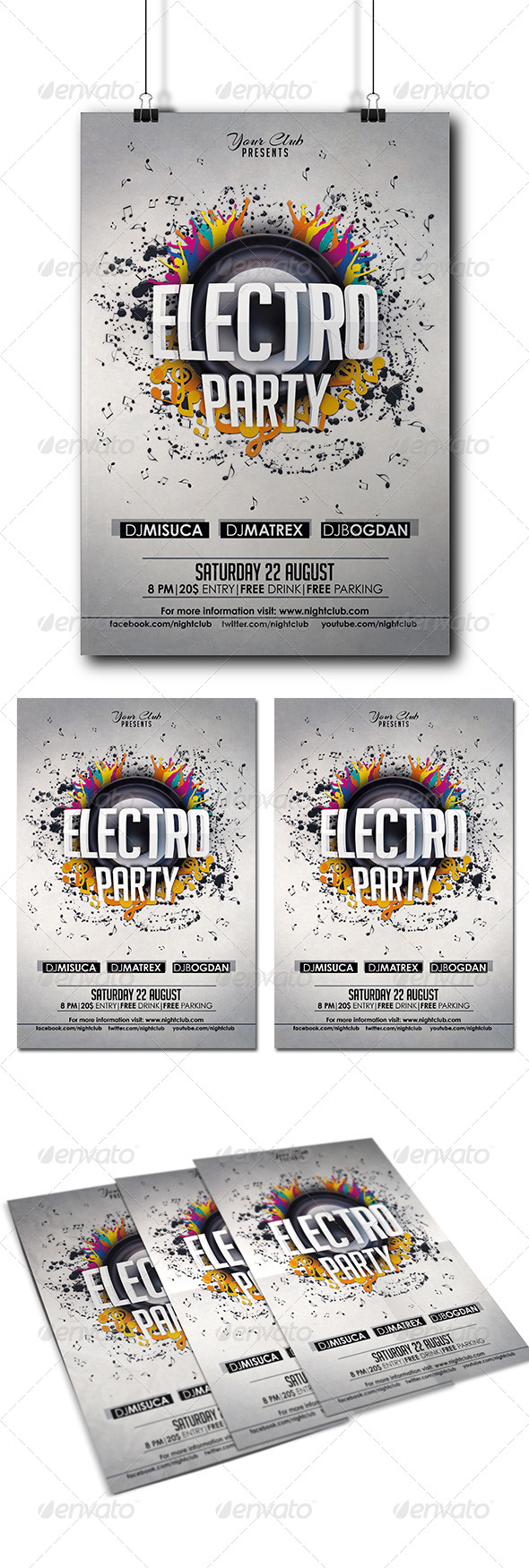 GraphicRiver Electro Party Flyer 8217518