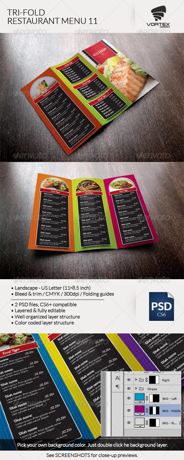 GraphicRiver Tri-Fold Restaurant Menu 11 8217546