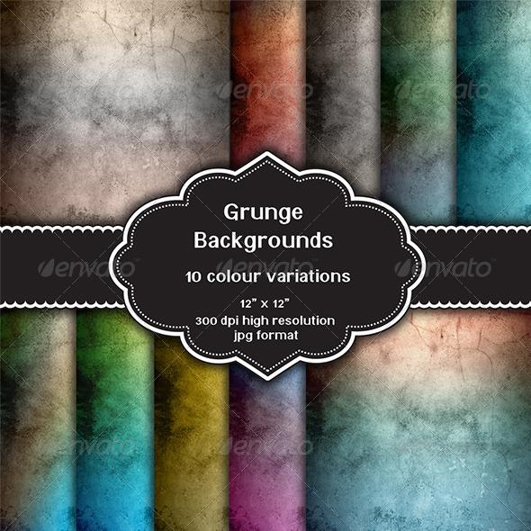 GraphicRiver Grunge Background Set 8217889