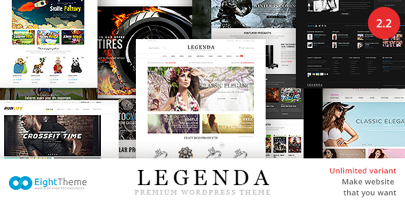 Legenda - Responsive Multi-Purpose WordPress Theme - WooCommerce eCommerce