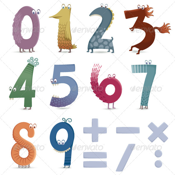 GraphicRiver Funny Numbers 8218138