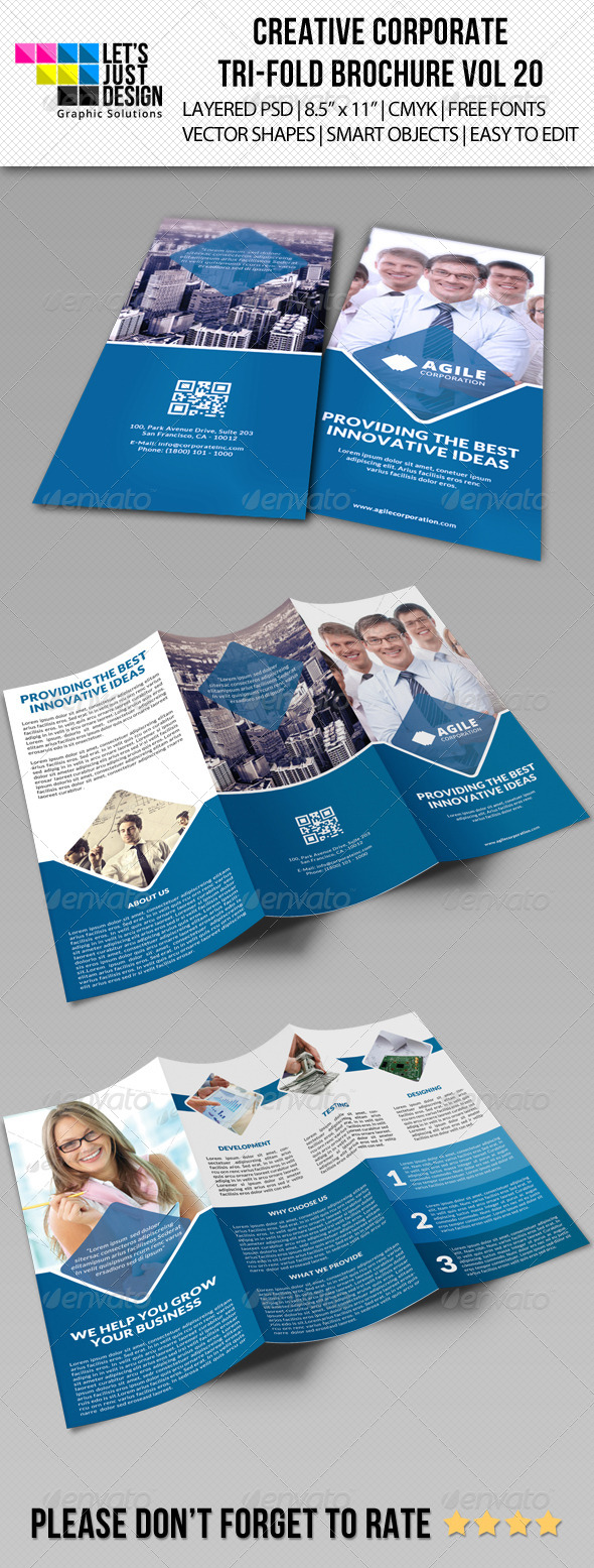 Creative Corporate Tri-Fold Brochure Vol 20