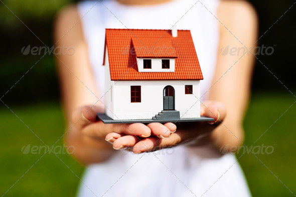Ideal house for my family - Stock Photo - Images