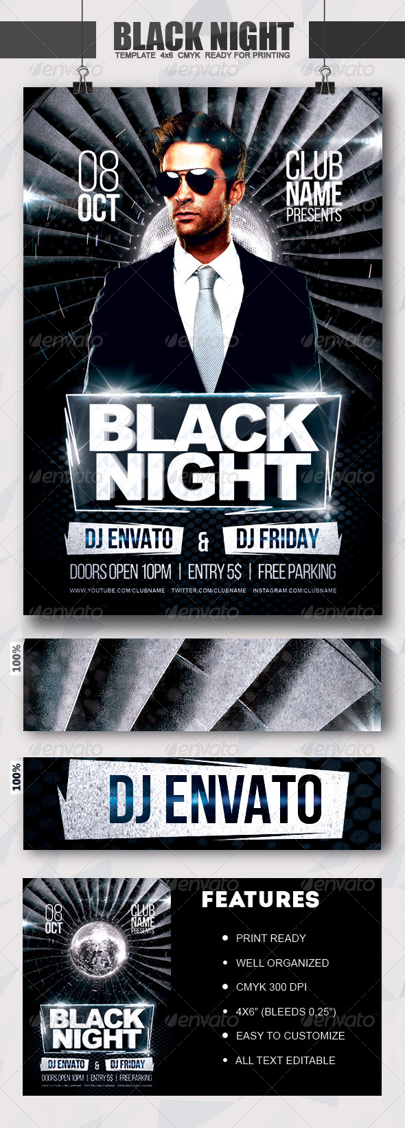GraphicRiver Black Night Flyer 8218205