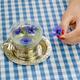 hand hold fresh cornflower blossom. herbal tea cup - PhotoDune Item for Sale
