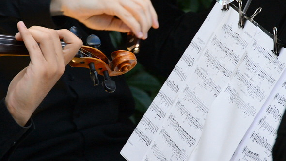 VideoHive Violins on a Concert 8218244
