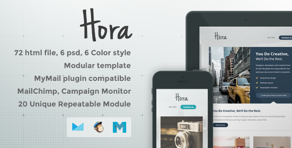 ThemeForest Hora Responsive Email Template 8218277