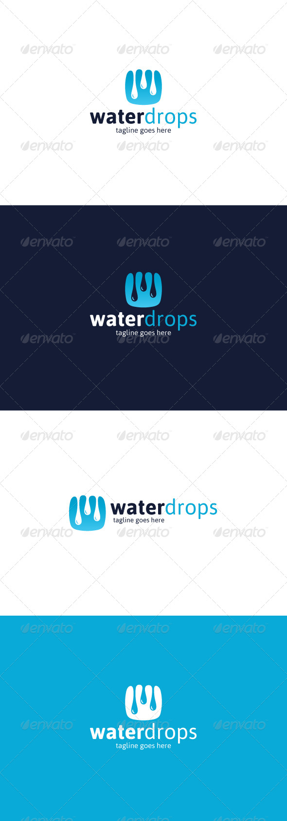GraphicRiver Water Drops Logo 8218441