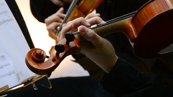 VideoHive Violins in Action on a Concert 8218661