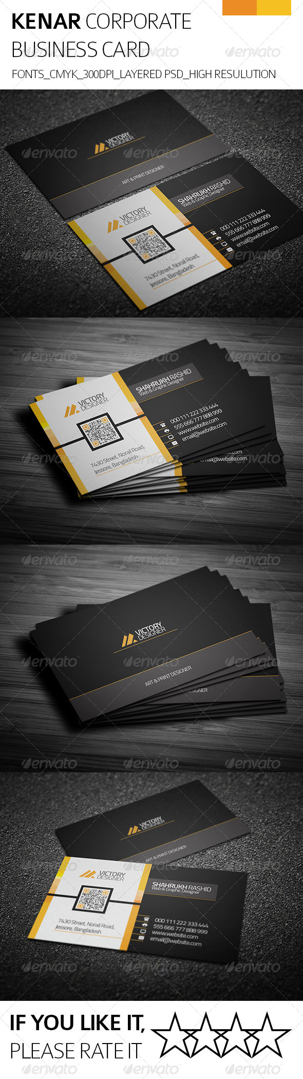 GraphicRiver Kenar & Corporate Business Card 8218769