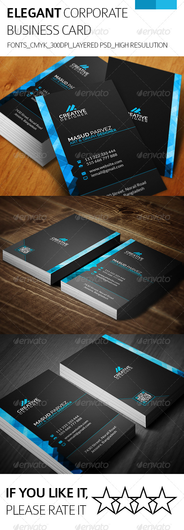 GraphicRiver Elegant & Corporate Business Card 8218826