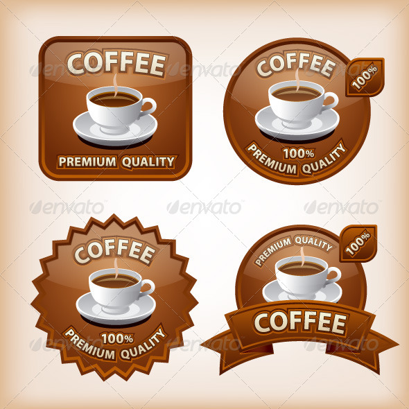 GraphicRiver Coffee Labels 8218884