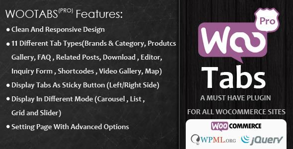CodeCanyon Woocommerce Tabs Pro 8218941