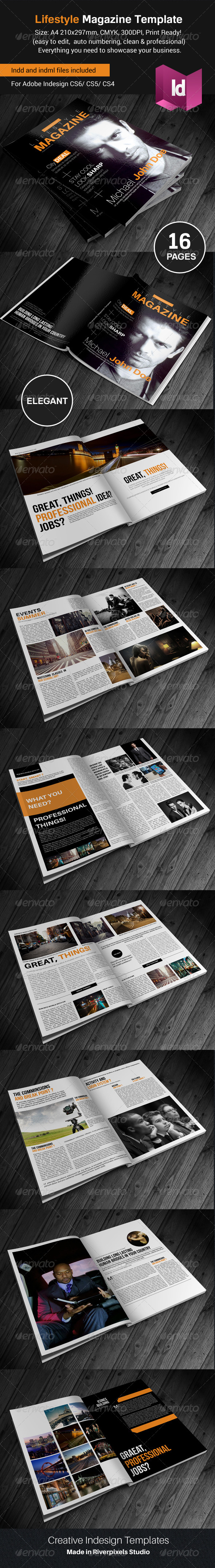 GraphicRiver Creative Lifestyle Magazine Template 8204271