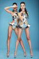 Extravagance. Two Heeled Women in Futuristic Clubwear. Hangouts - PhotoDune Item for Sale