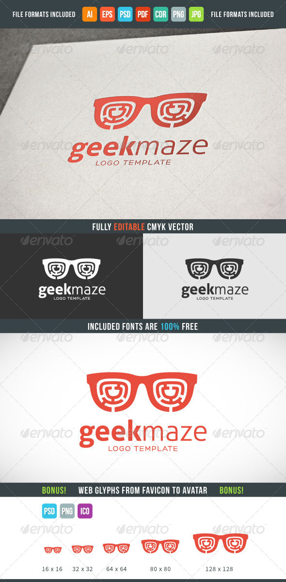 GraphicRiver Geek Maze Logo Template 8219027