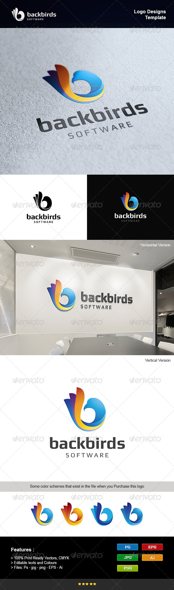 GraphicRiver Back Bird 8219041