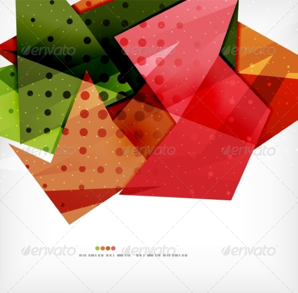 GraphicRiver Modern 3D Abstract Shapes on White Layout 8219045