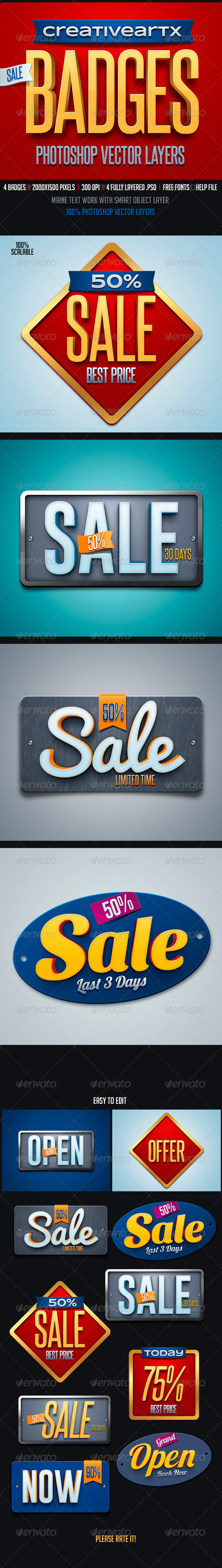 GraphicRiver Sale Badges 8217471