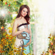 Maternity. Pregnant Smiling Woman in Nature Expecting Baby - PhotoDune Item for Sale