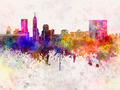 Indianapolis skyline in watercolor background - PhotoDune Item for Sale