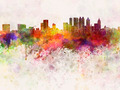 Atlanta skyline in watercolor background - PhotoDune Item for Sale