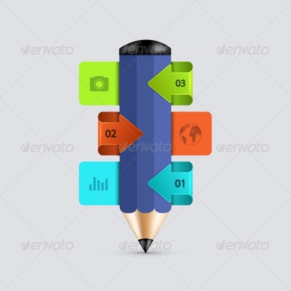 GraphicRiver Modern Pencil Infographics 8219102
