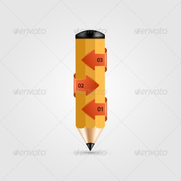 GraphicRiver Modern Pencil Infographics 8219115