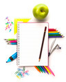 Notebook with stationary objects - PhotoDune Item for Sale