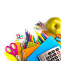 School supplies on white background - PhotoDune Item for Sale