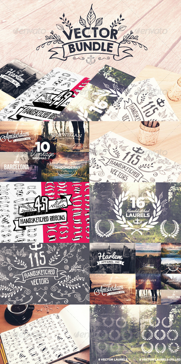 GraphicRiver Vector Design Bundle 8219451