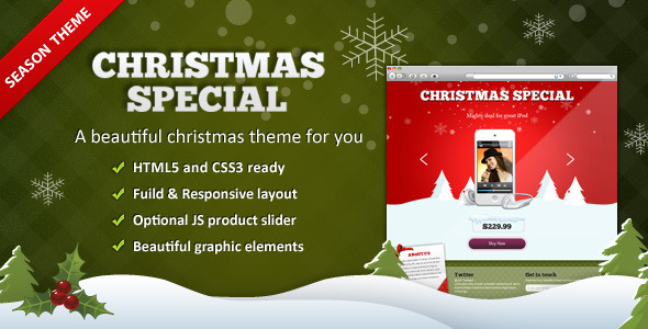 View live Demo for XMAS - A Christmas Special Responsive Landing Page Template