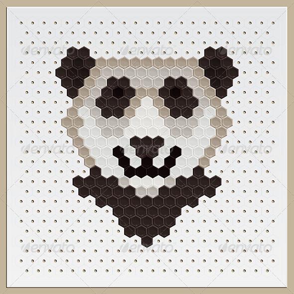 GraphicRiver Mosaic Panda 8219532