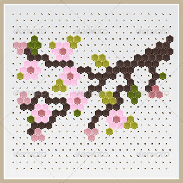 GraphicRiver Mosaic Sakura 8219578