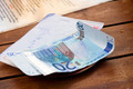 Dining check and Euro banknotes - PhotoDune Item for Sale