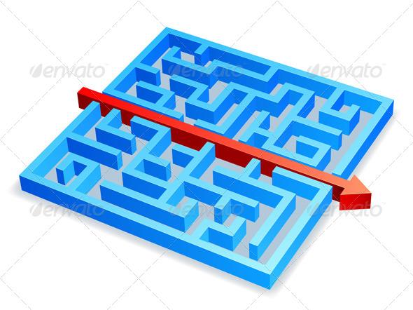 GraphicRiver Maze Concept 8219628