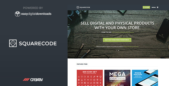 SquareCode Premium WordPress Theme - eCommerce WordPress