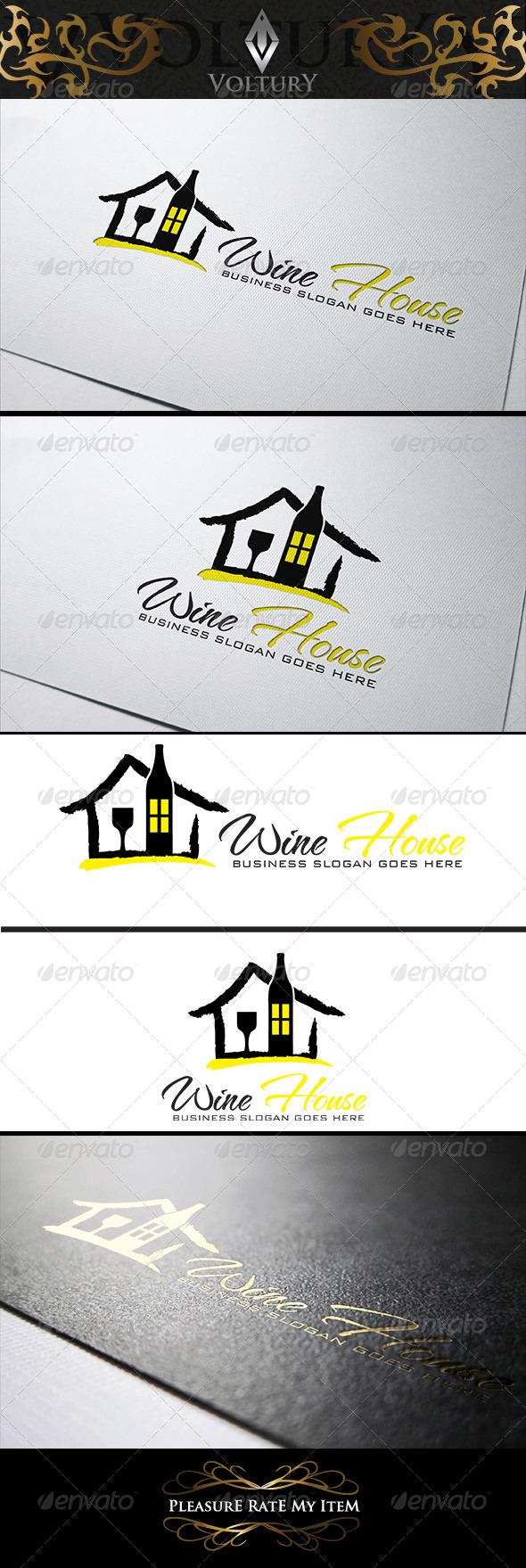 GraphicRiver Wine House Logo 8219713