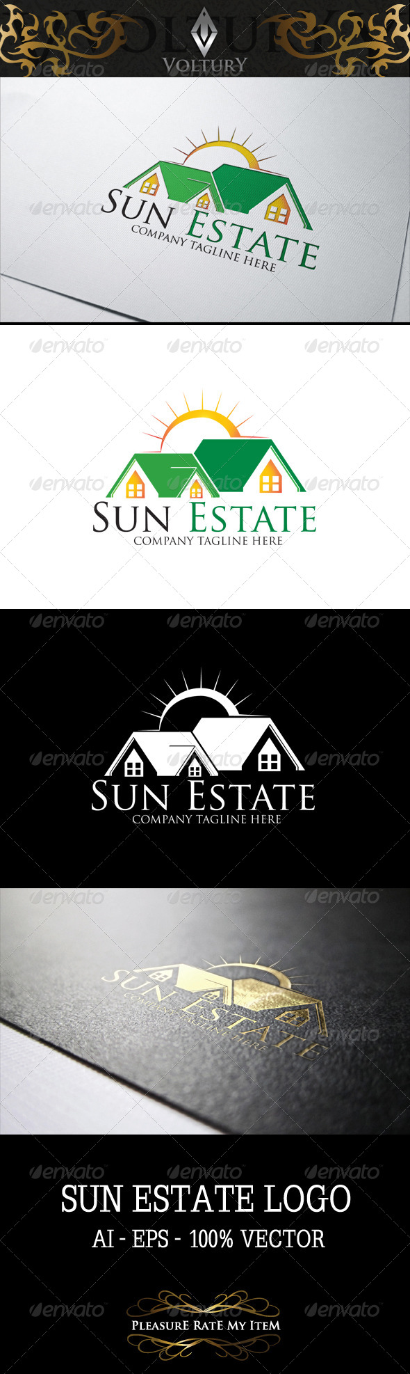 GraphicRiver Sun Estate Logo 8219743