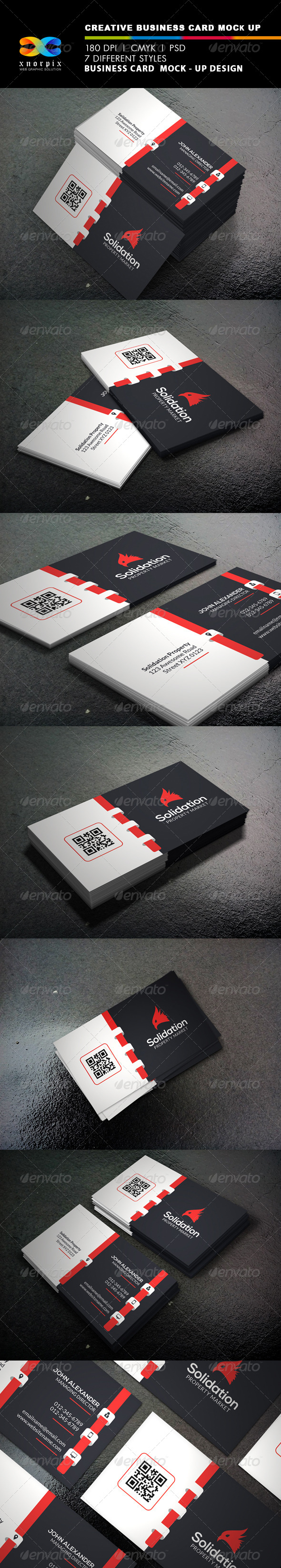 GraphicRiver Realistic Business Card Mock up 8220020