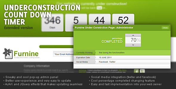 Under construction count-down, Extended version - CodeCanyon Item for Sale