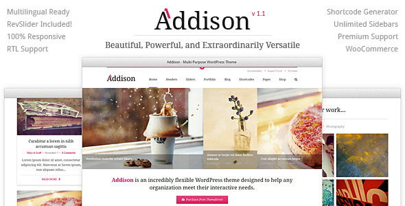 Addison - Premium Multi-Purpose WordPress Theme - Corporate WordPress