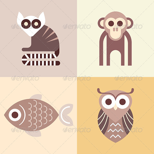 GraphicRiver Animal Vector ICons 8220293