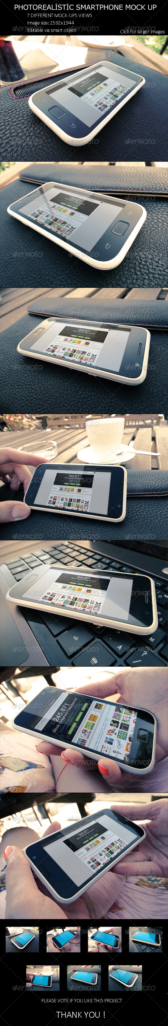 GraphicRiver PhotoRealistic SmartPhone Mock Up 8220689