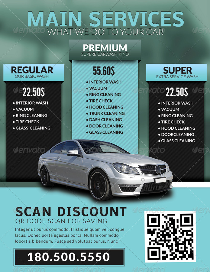 Image Gallery Mobile Carwash Business Flyer