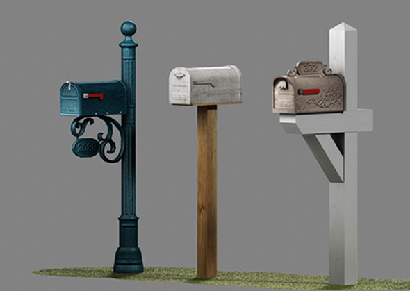 3DOcean US Mailboxes Pack Low Poly 8220778