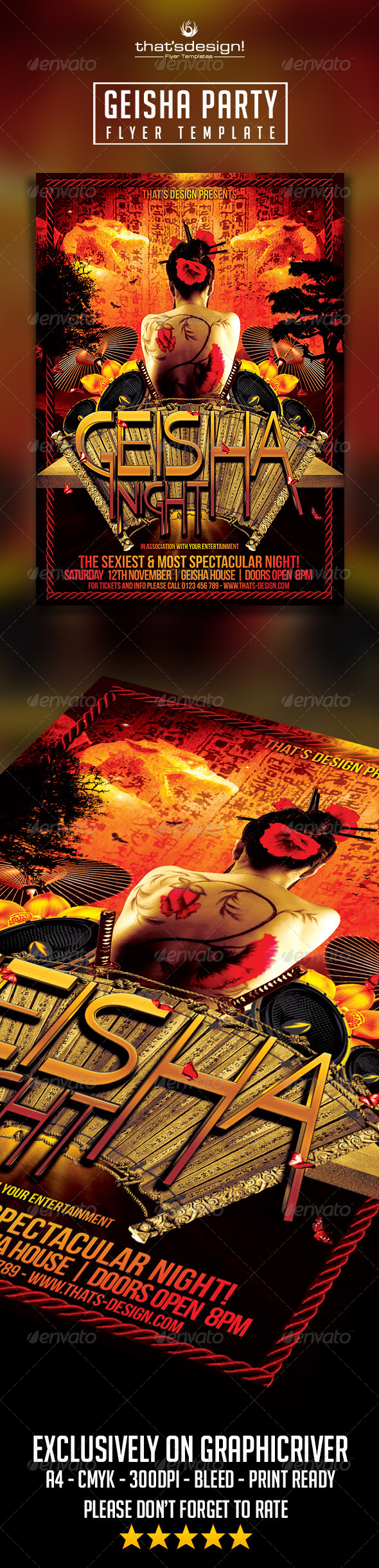 GraphicRiver Geisha Party Flyer Template 8220849