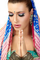 Namaste. Ethnic Woman - PhotoDune Item for Sale